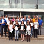 SIA2016/17: Schüler, Lehrer, Vertreter der Hochschule und der teilnehmenden Unternehmen