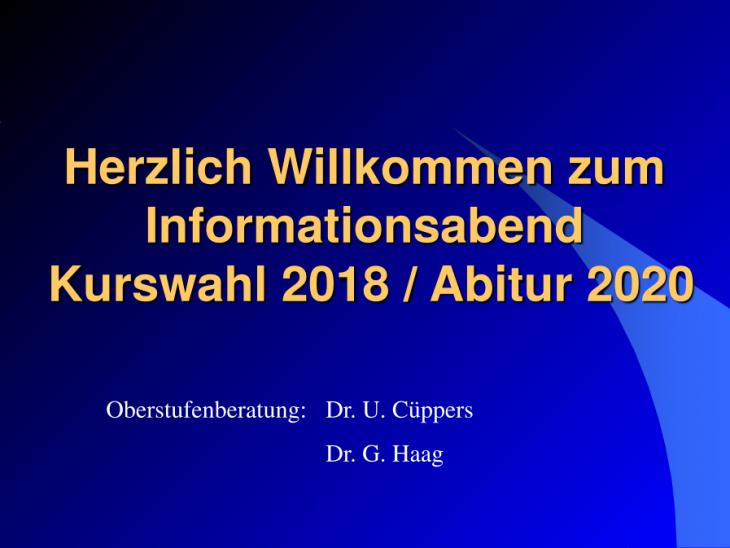 Info Abitur 2020