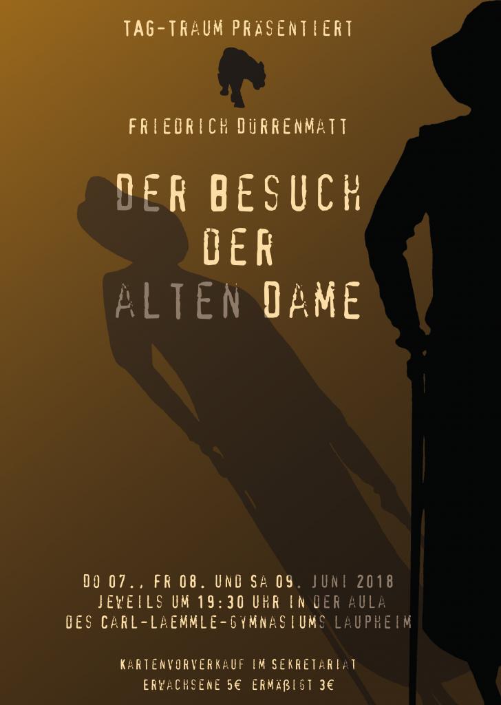 """Plakat """"Der Besuch der alten Dame"""""""