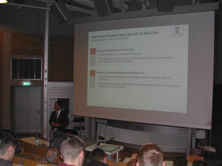 Votrag Wolff & Müller – Nachhaltig wirtschaften