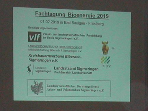 Fachtagung Bioenergie in Friedberg bei Bad Saulgau am 1.2.2019