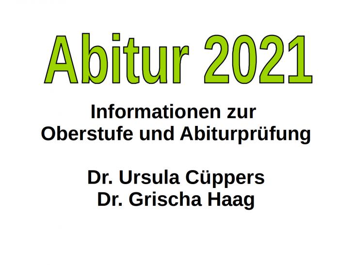 Infoabend Kursstufe 2021