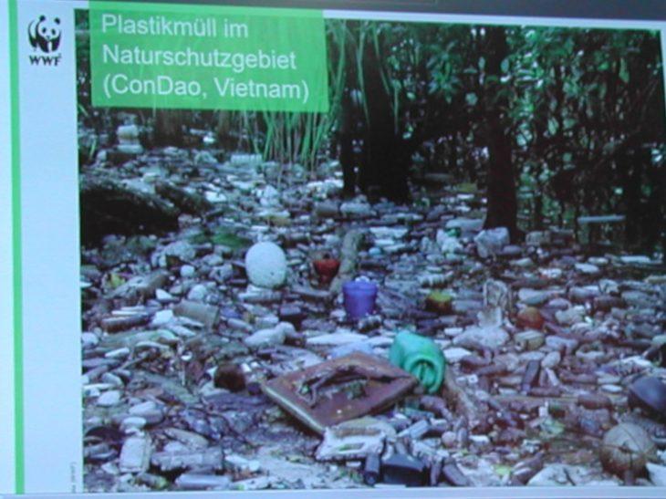 Plastikmüll im Naturschutzgebiet