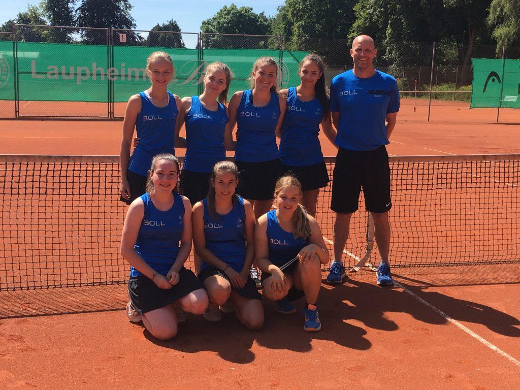 Mädchen-Tennismannschaft